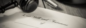 will and estate testament paperwork for a wills and estates attorney